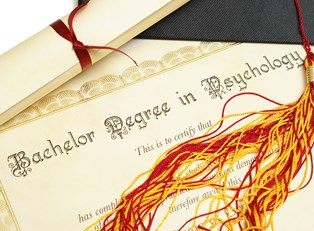 a diploma earned by someone who completed an online psychology degree