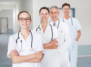 Physician assistants line up for a picture