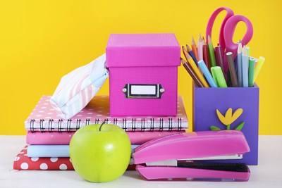 School supplies for the classroom