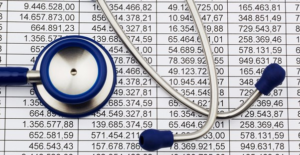 stethoscope and patient data