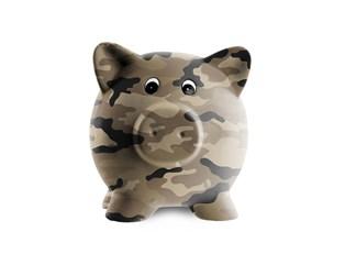 Camoflauge piggy bank